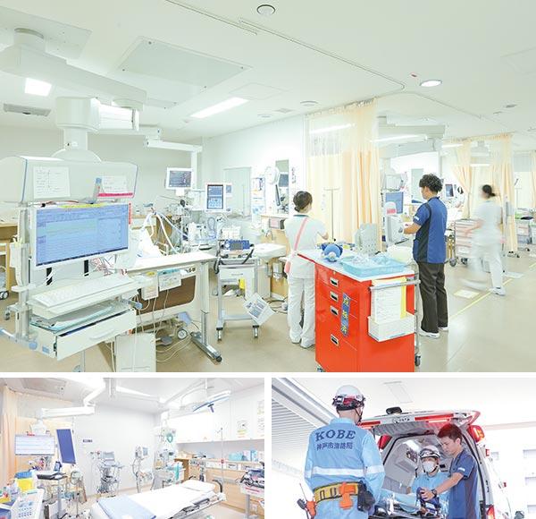 写真:北棟1階救急病棟・E-ICU